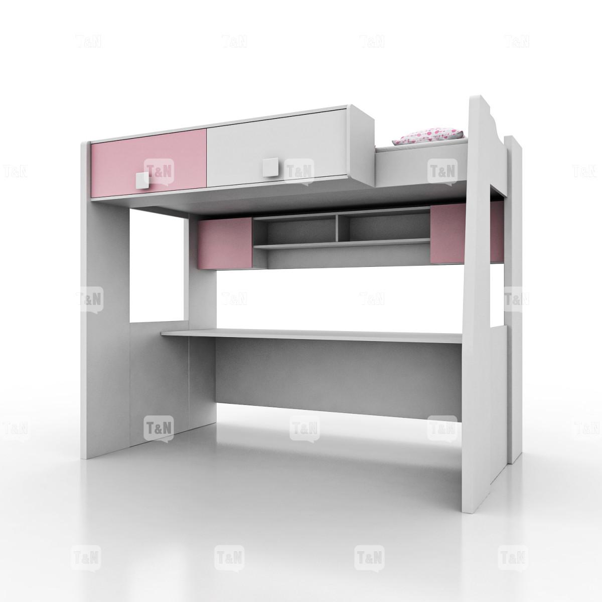 Кровать-чердак полутороспальный (120 см), ( Фабрика TOMY NIKI )
