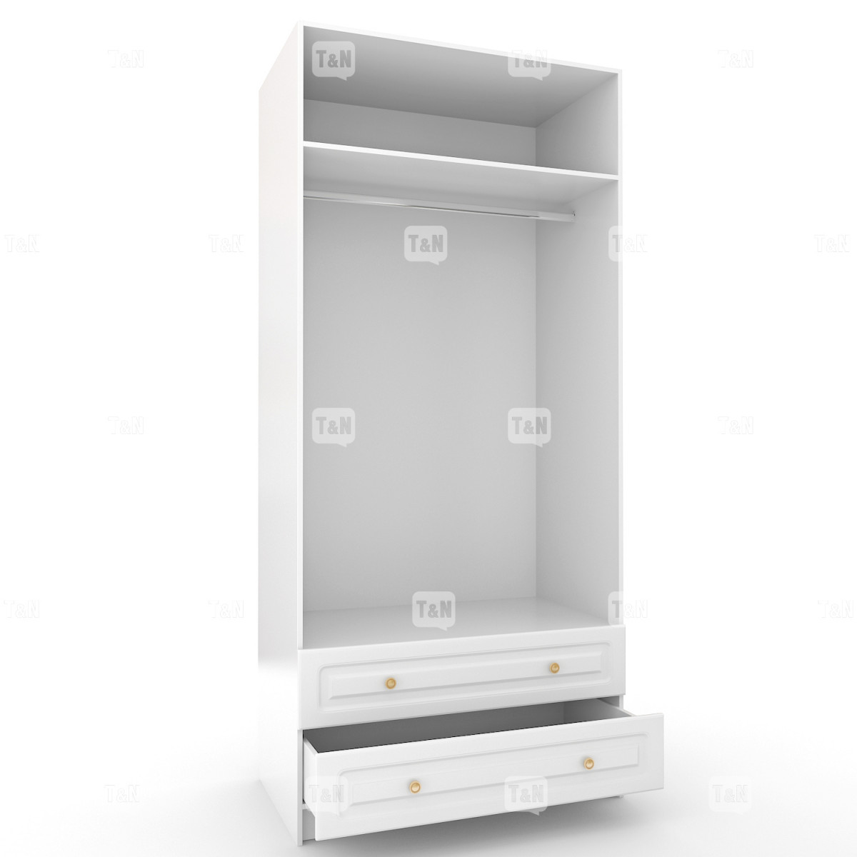 Шкаф двухдверный с ящиками (Фабрика TOMY NIKI )