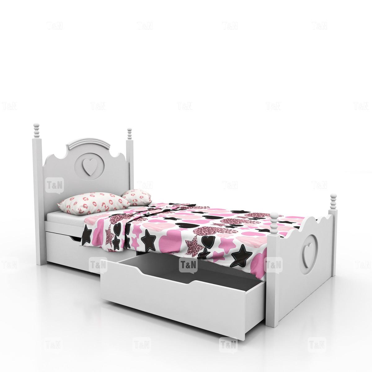 Кровать с выдвижными ящиками , 90 см. (Фабрика TOMY NIKI )