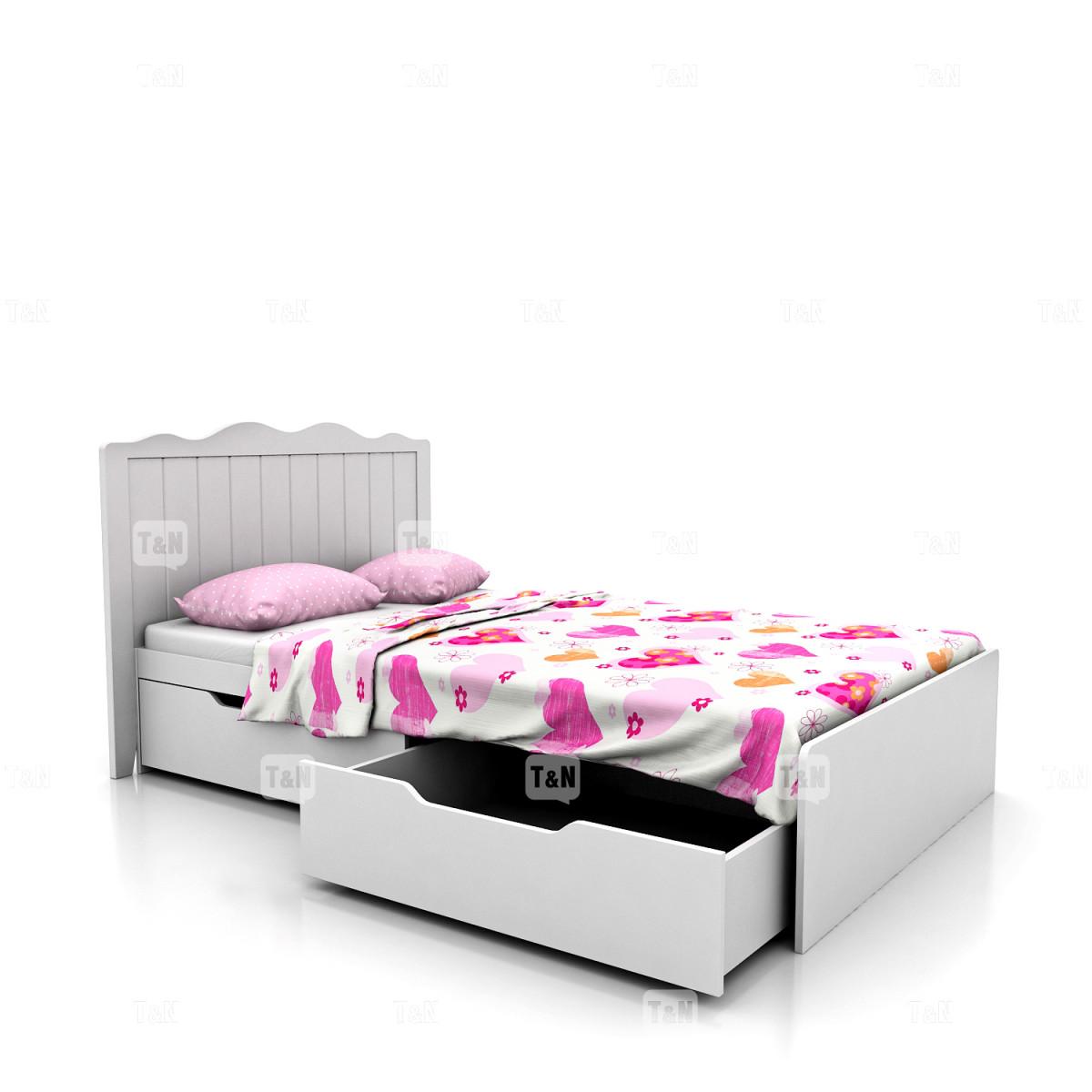 Кровать с выдвижными ящиками (90 см.),  (Фабрика TOMY NIKI )