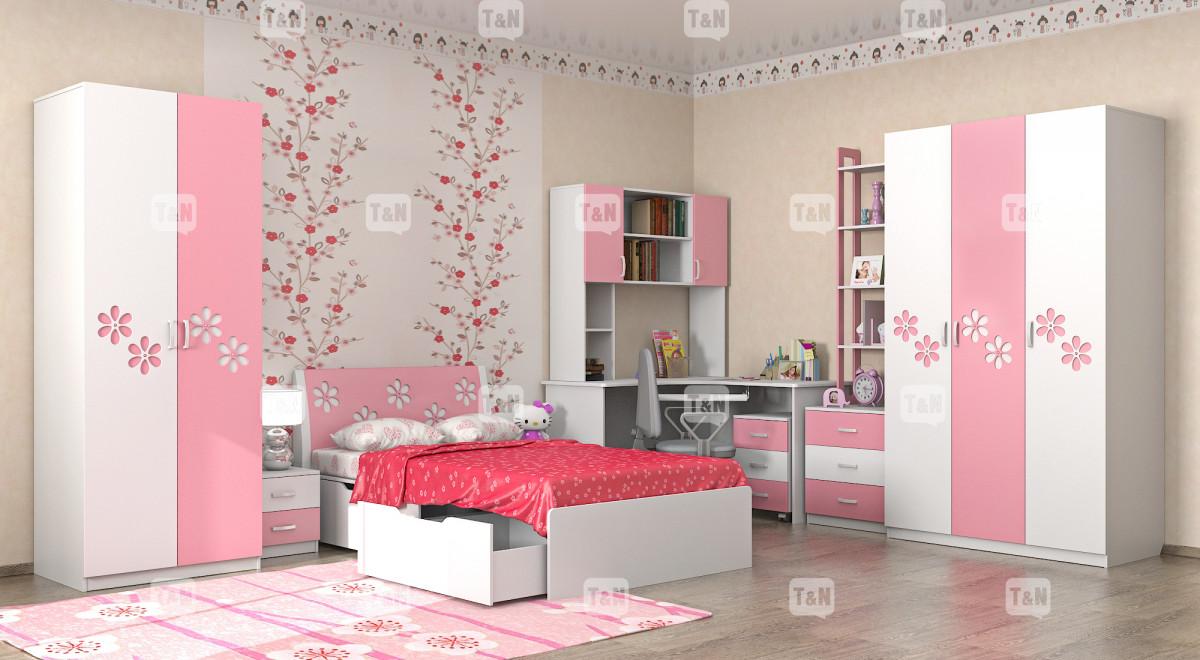 """Коллекция """"Радуга"""" (Фабрика TOMY NIKI ), цвет - Pinkflower (Розовый)"""