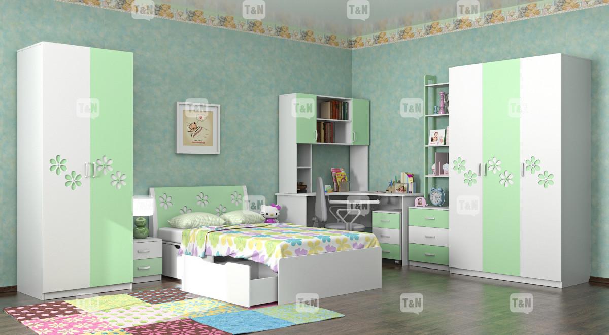 """Коллекция """"Радуга"""" (Фабрика TOMY NIKI ), цвет - Greenflower (Зеленый)"""