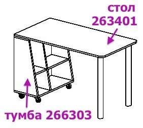 """""""СИЛУЭТ"""" Стол приставной (SoftForm)"""