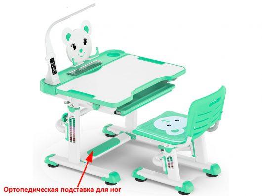 """Комплект парта и стульчик, с лампой """"Mealux BD-04 New XL Teddy"""""""