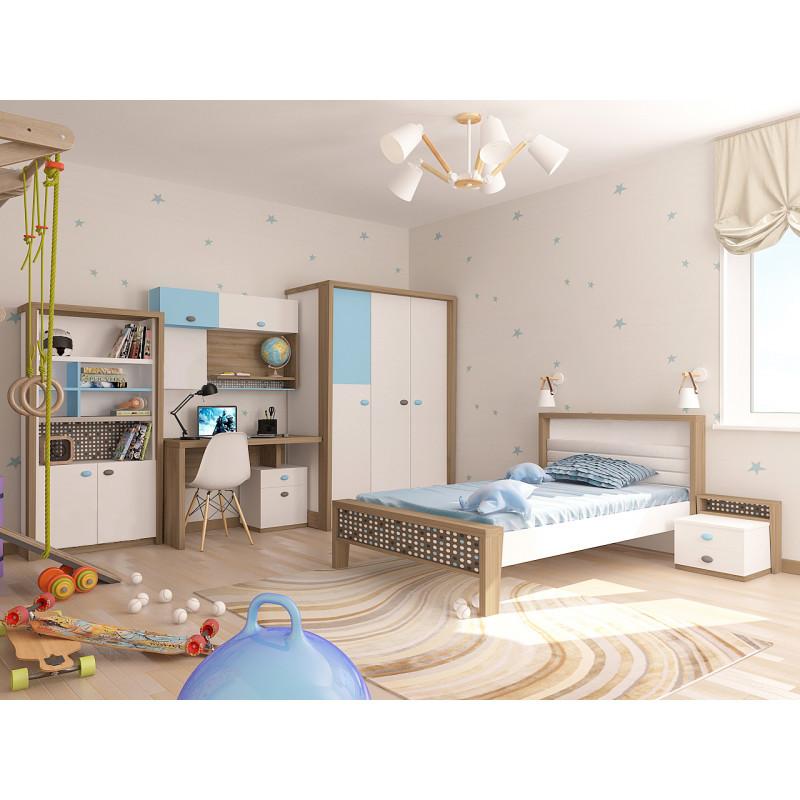 """MIX"" Кровать № 3, Голубой (ABC KING)."
