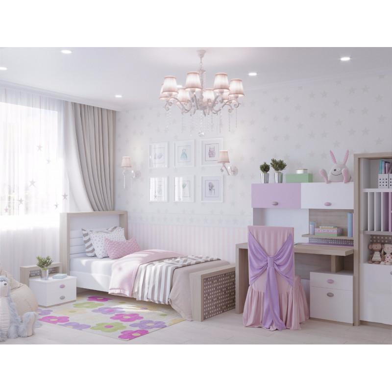 """""""MIX"""" Кровать № 3, Розовый (ABC KING)."""