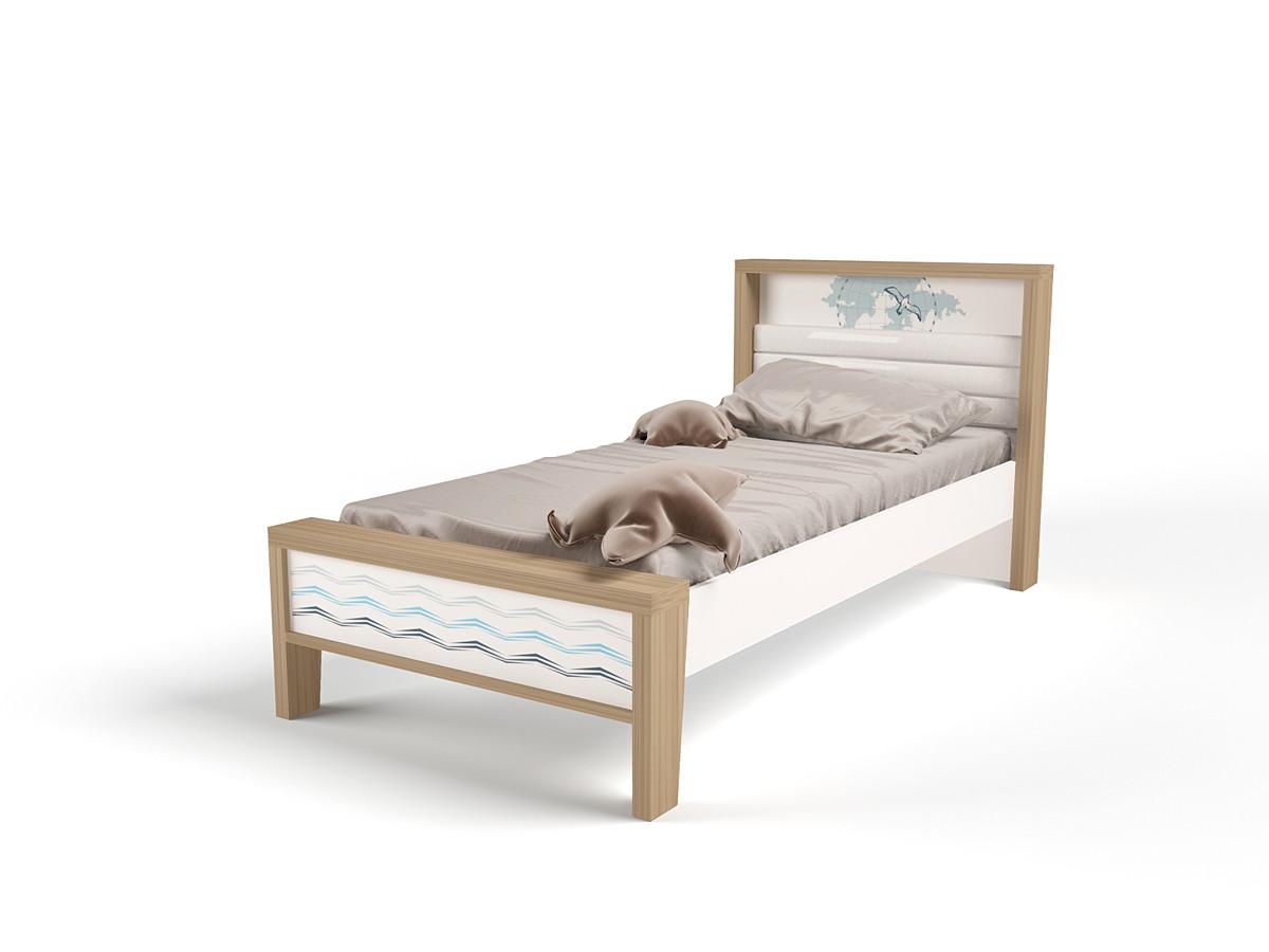 """""""MIX OCEAN"""" Кровать №1 (ABC KING). Голубой"""