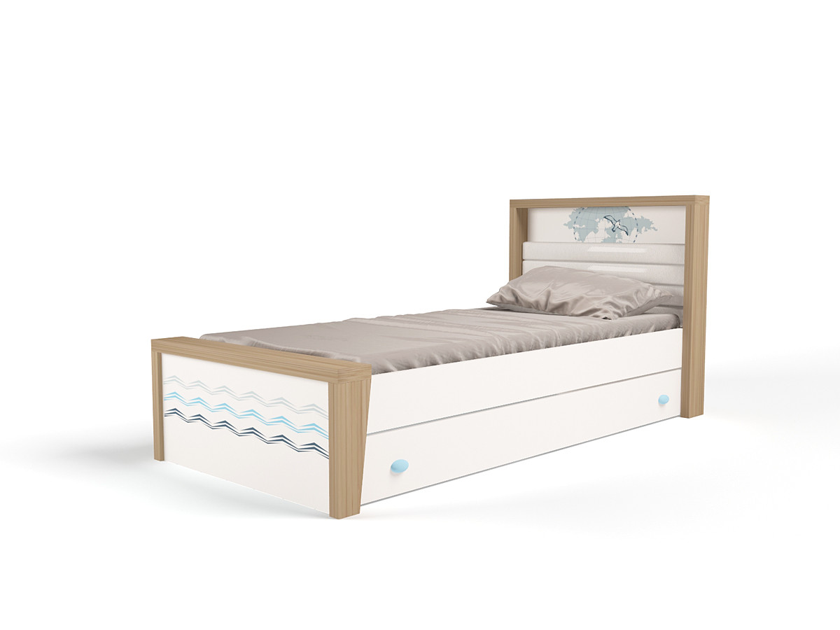 """""""MIX OCEAN"""" Кровать №3 (ABC KING). Голубой"""