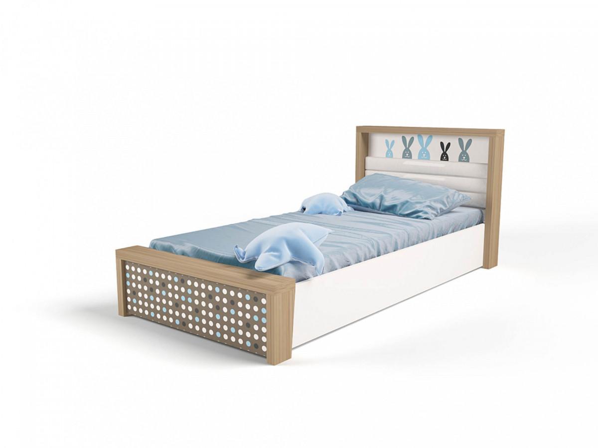 """""""MIX BUNNY"""" Кровать №5 с подъёмным механизмом (ABC KING). Голубая"""