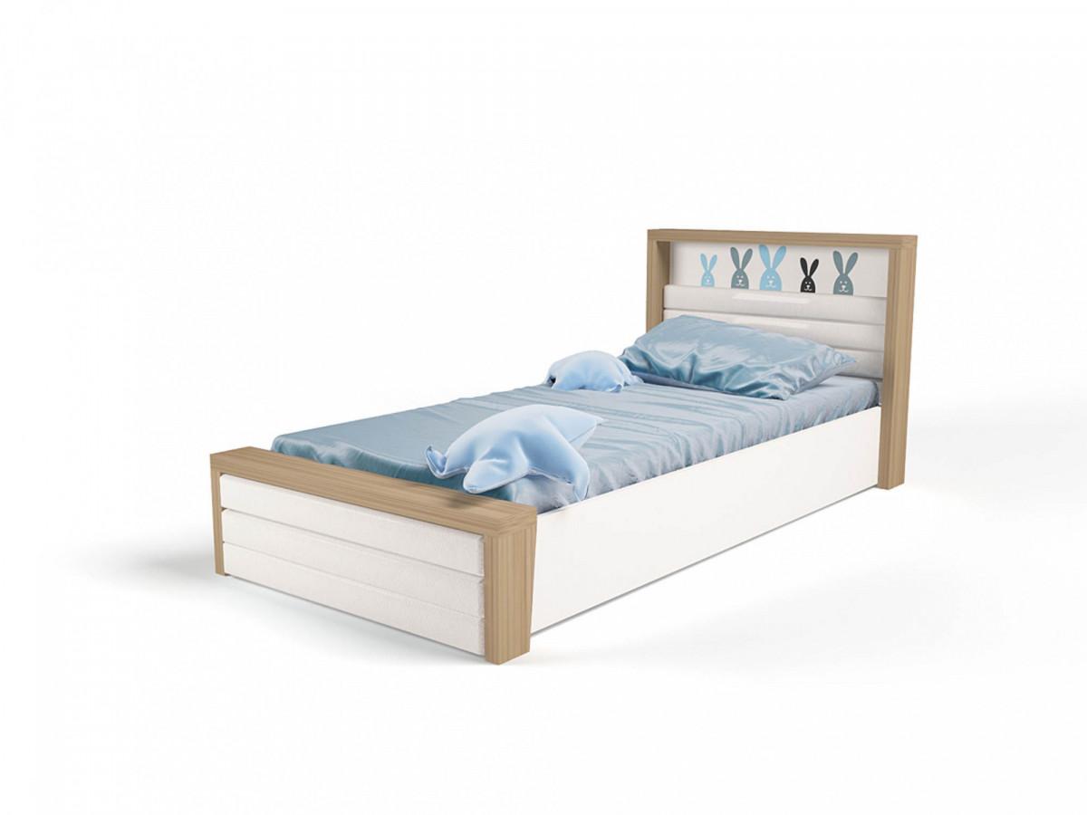 """""""MIX BUNNY"""" Кровать №6 с подъёмным механизмом (ABC KING). Голубая"""