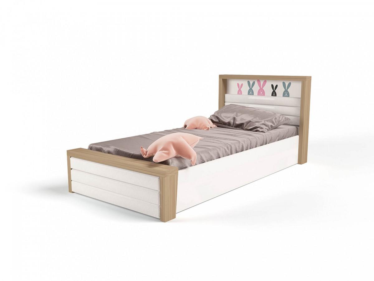 """""""MIX BUNNY"""" Кровать №6 с подъёмным механизмом (ABC KING). Розовая"""