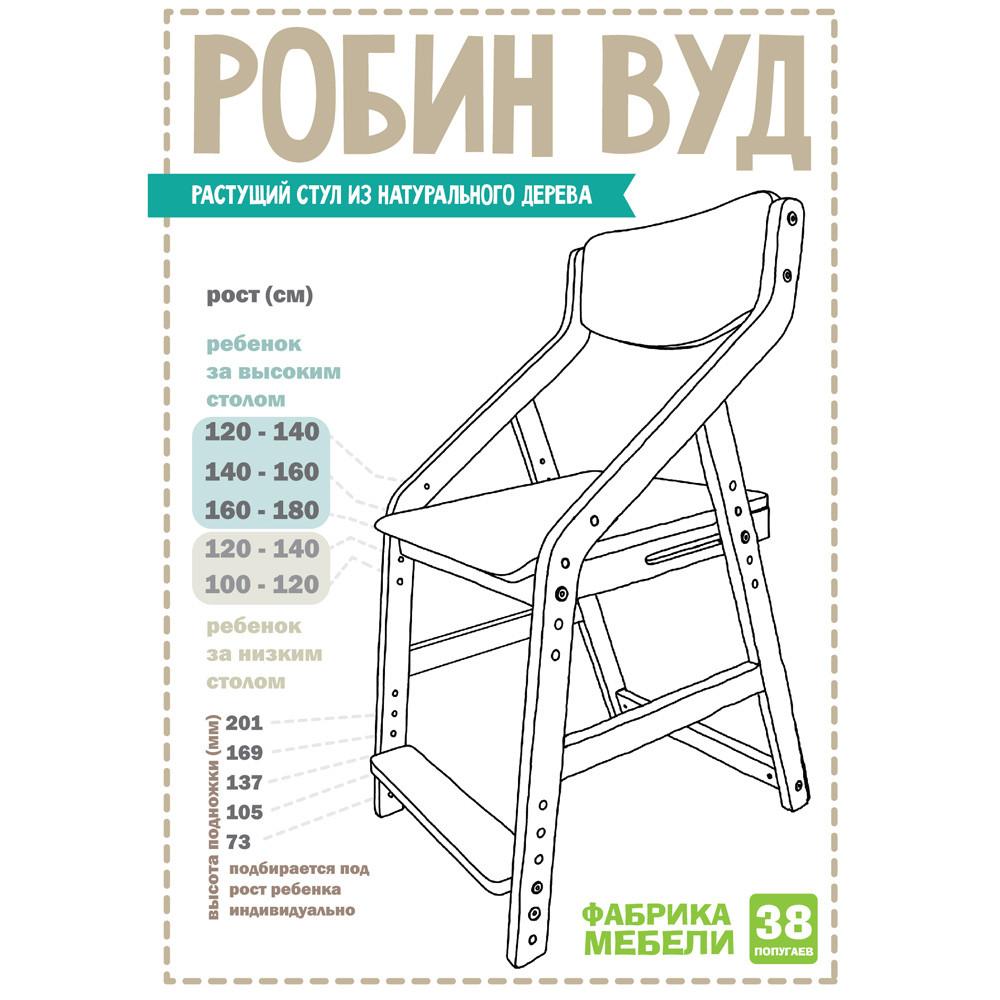 """Растущий стул """"РОБИН WOOD"""" (38 Попугаев)."""