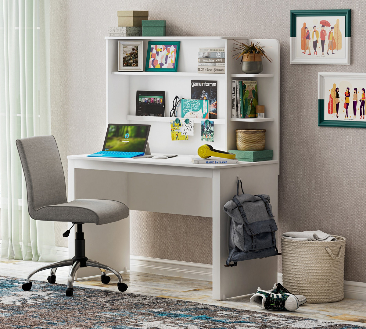 """""""WHITE"""" Надстройка для письменного стола (Cilek)"""
