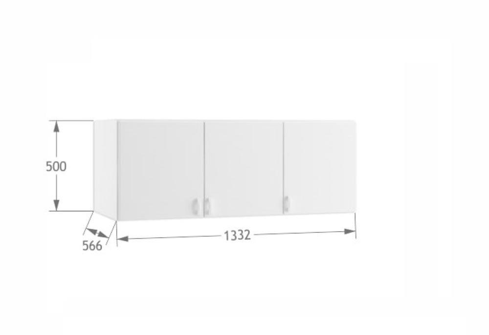 Антресоль для трехдверного шкафа (Meblik)