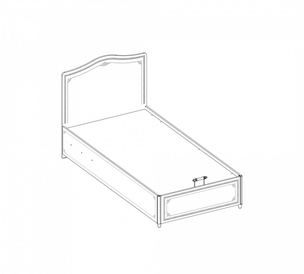 """""""SELENA GREY"""" Кровать с подъёмным механизмом 100х200 (Cilek)"""