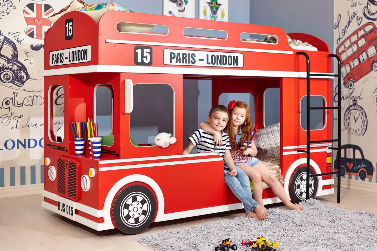 """Кровать двухъярусная """"LONDON BUS"""" (Любимый дом)."""