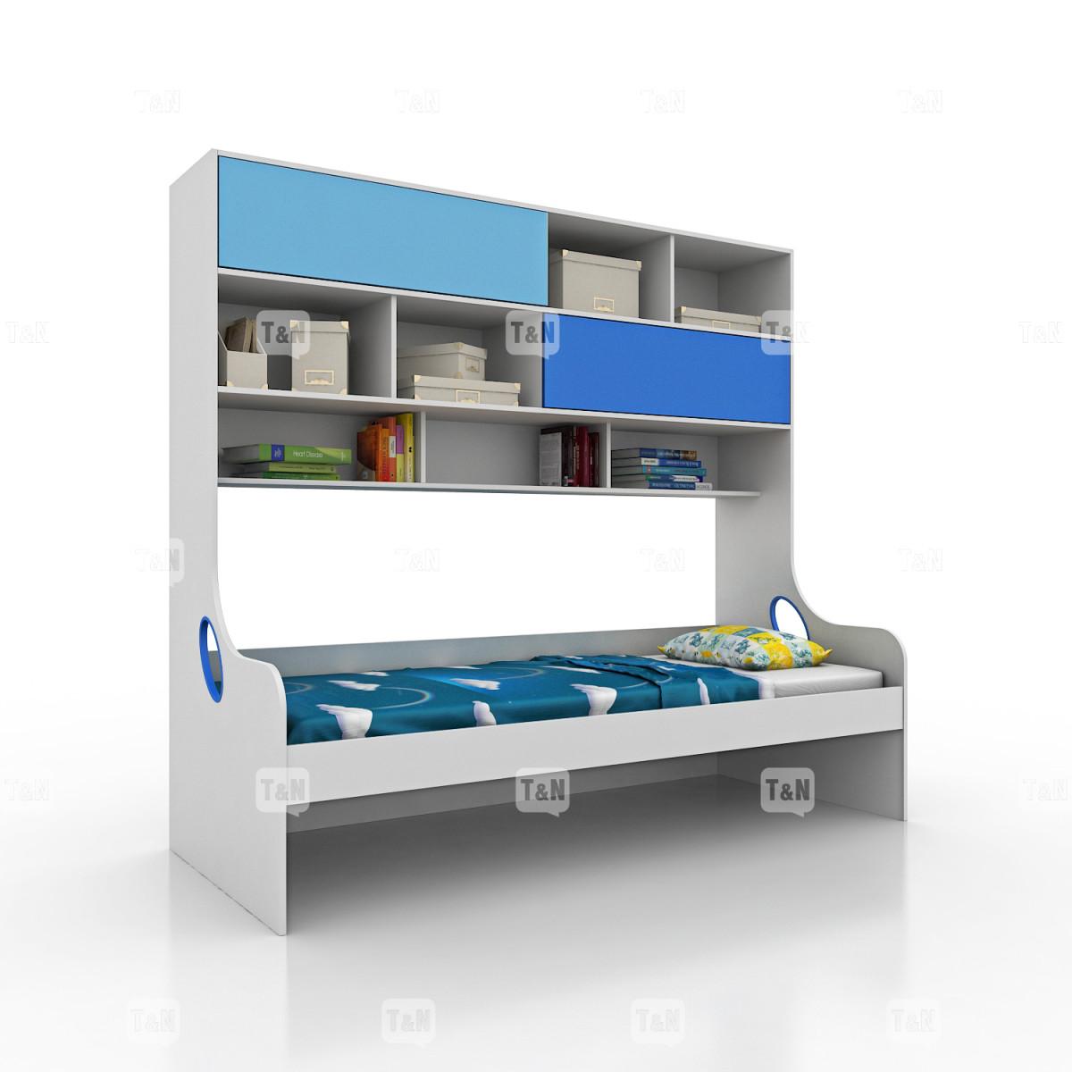 Кровать-чердак односпальный (90 см.) (Фабрика TOMY NIKI )