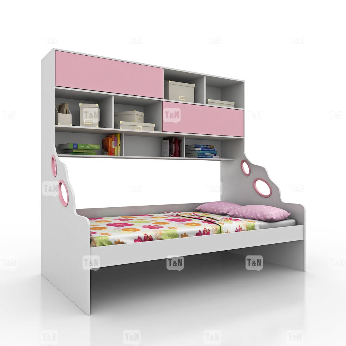Кровать-чердак полутороспальный (120 см.) (Фабрика TOMY NIKI )