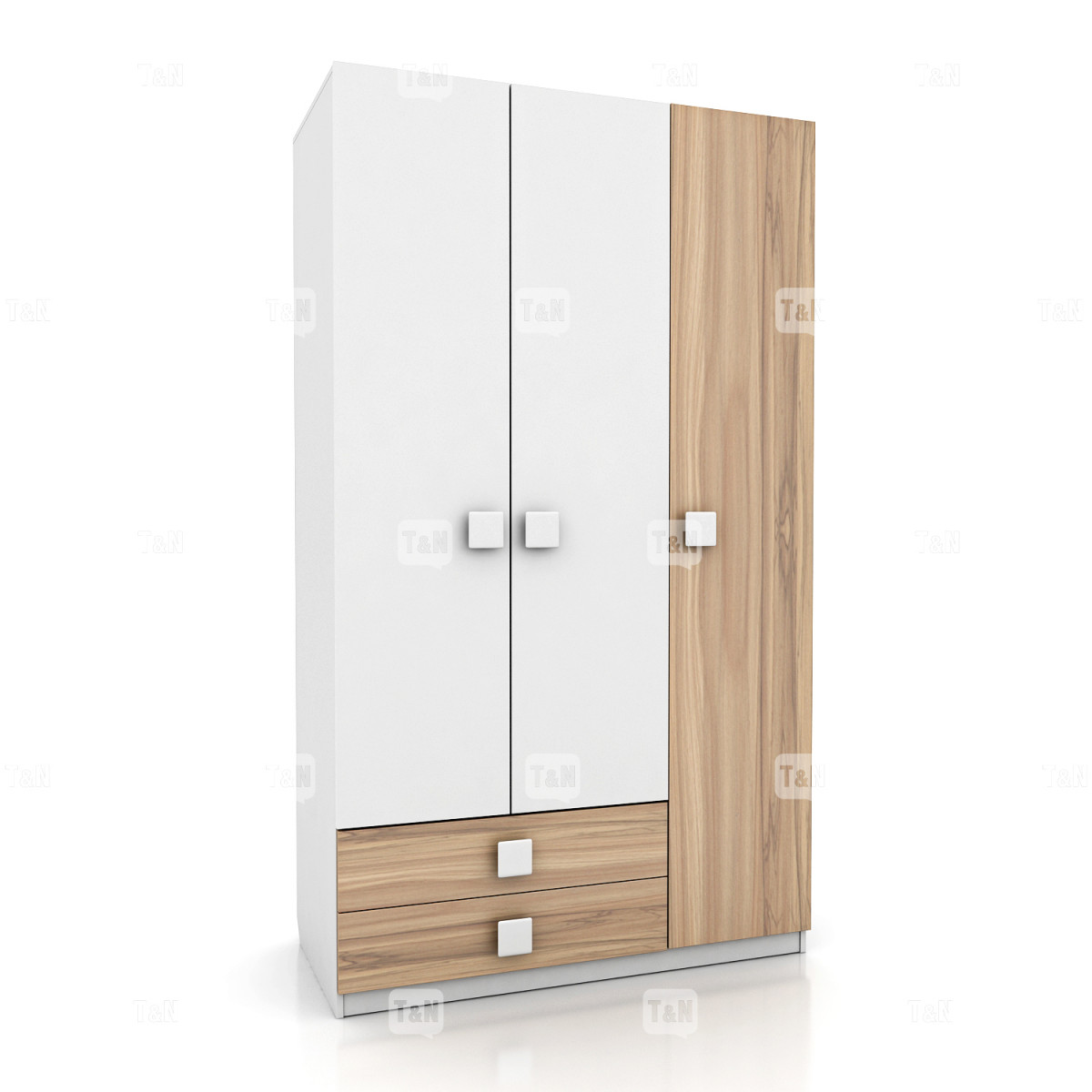 Шкаф 3-х дверный с двумя ящиками (Фабрика TOMY NIKI )
