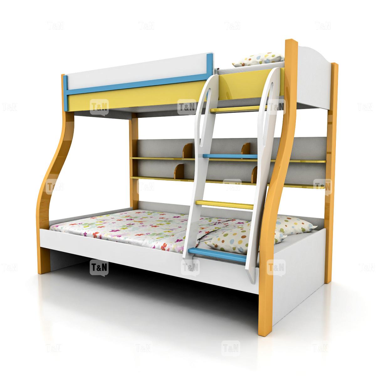 Кровать  двухъярусная  ( Фабрика TOMY NIKI ) 90х120 см.