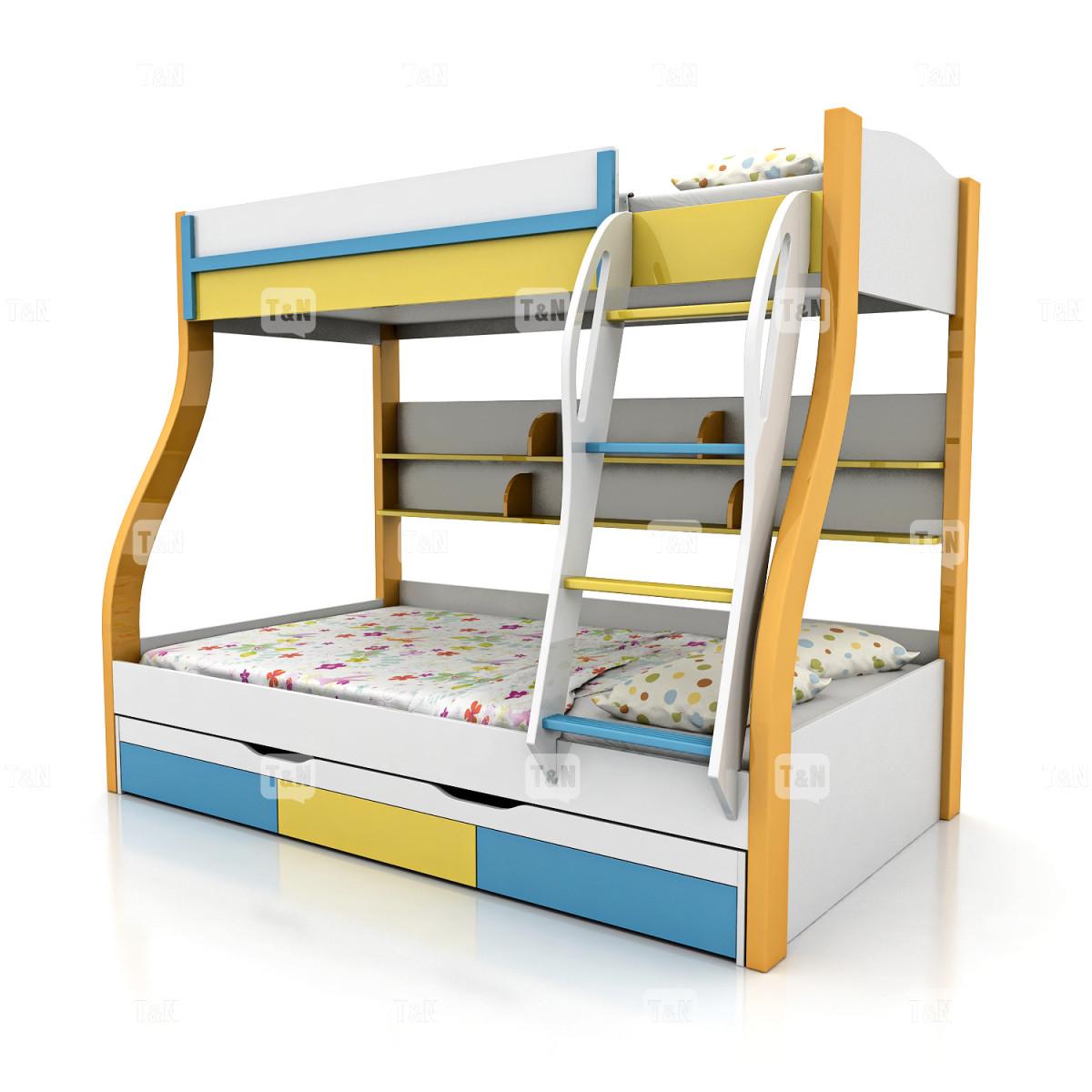 Кровать двухъярусная ( Фабрика TOMY NIKI ) 90х120 см. (3 места)