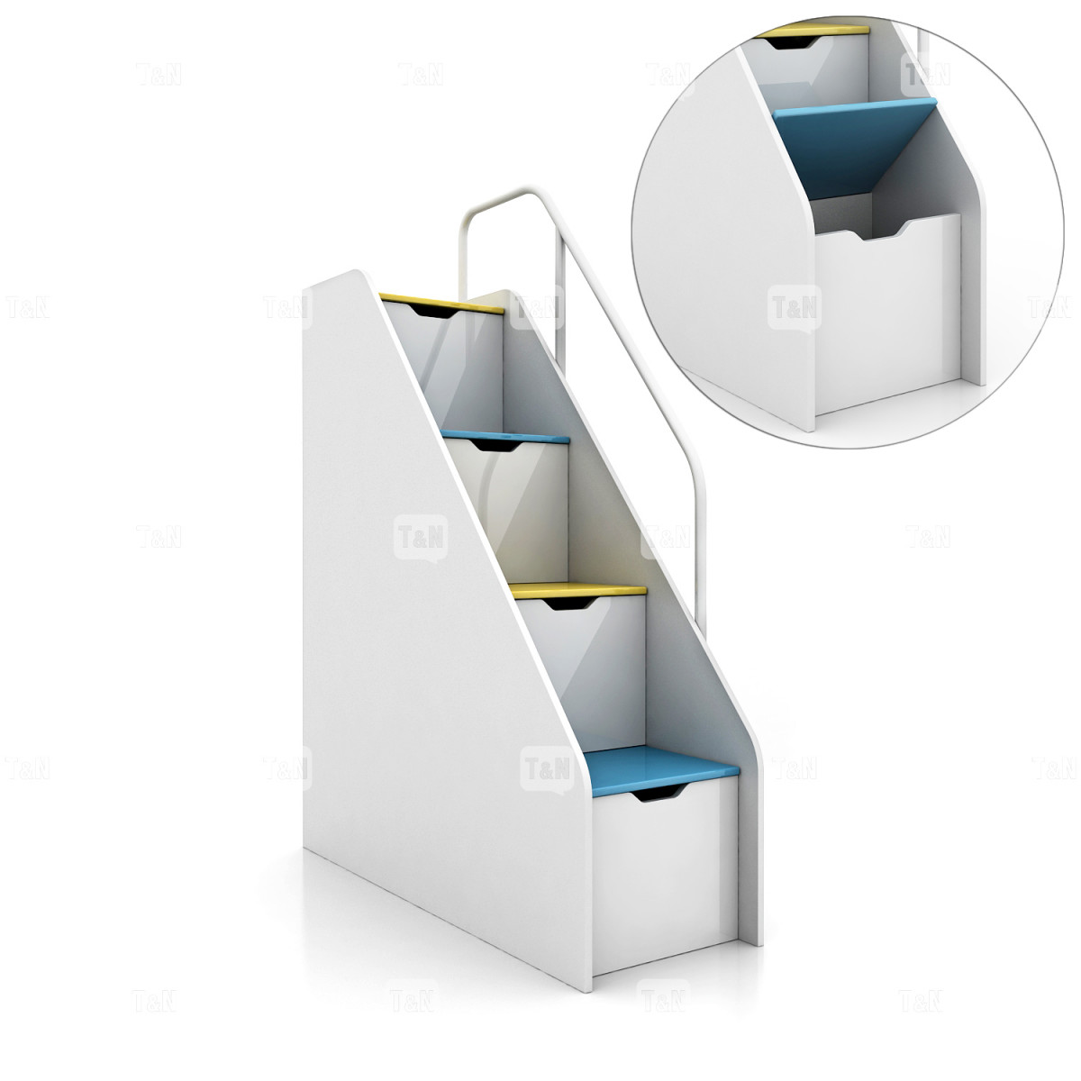Лестница со ступеньками-ящиками для двухъярусной кровати (Фабрика TOMY NIKI )