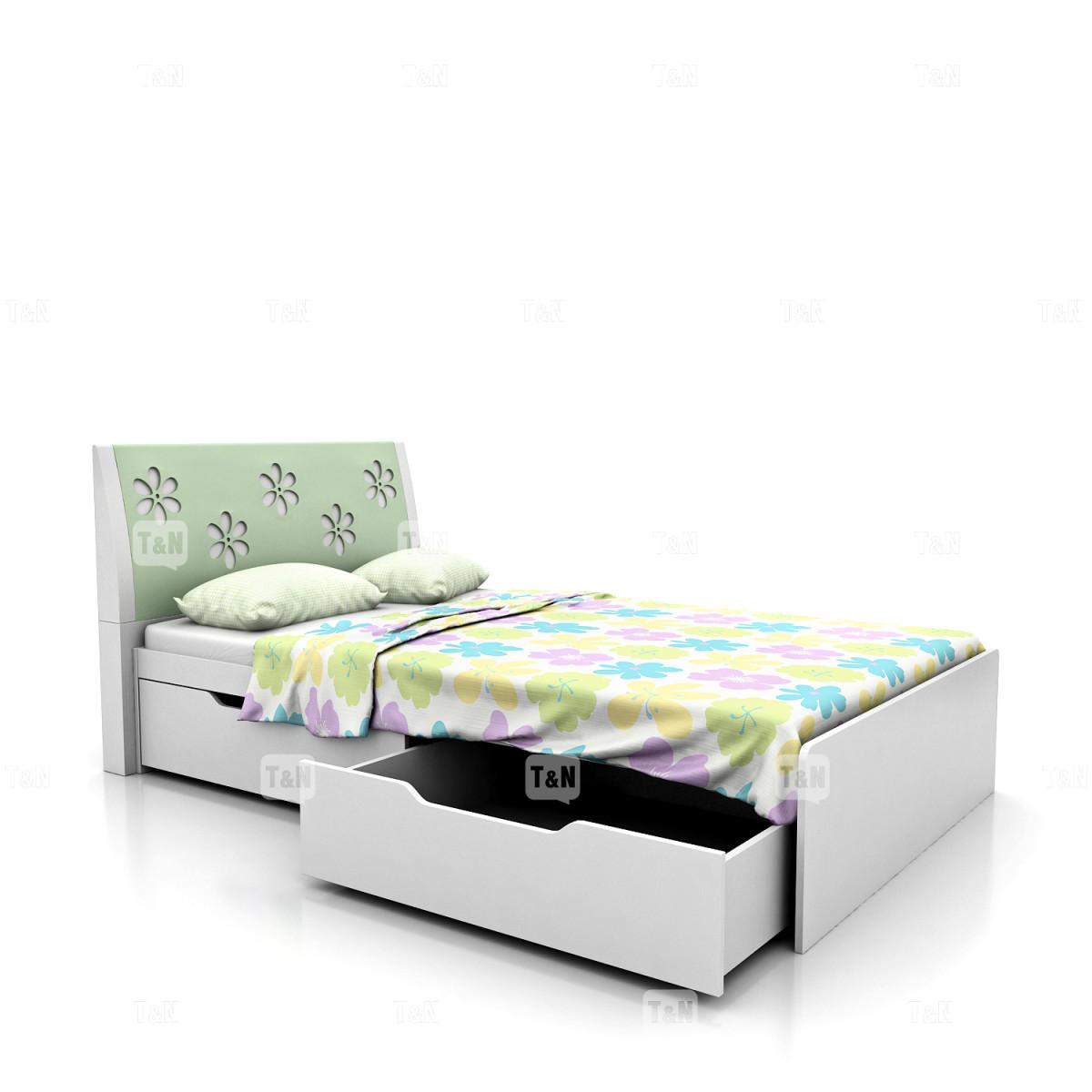 Кровать с выдвижными ящиками (120 см.),  (Фабрика TOMY NIKI )