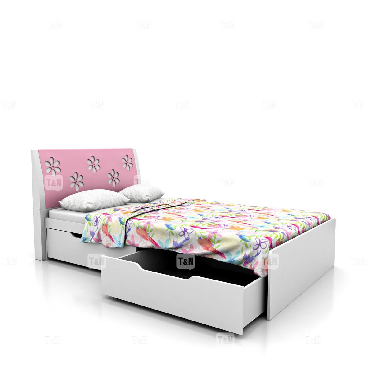 Кровать с выдвижными ящиками (120 см.),(Фабрика TOMY NIKI )