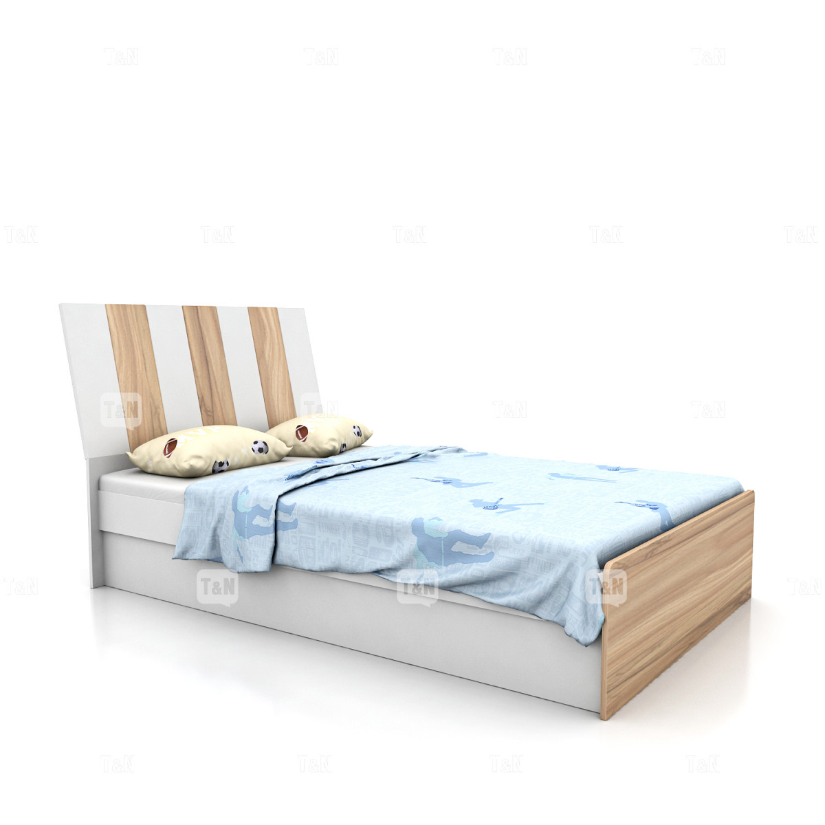 Кровать без ящиков , (120 см.) (Фабрика TOMY NIKI)