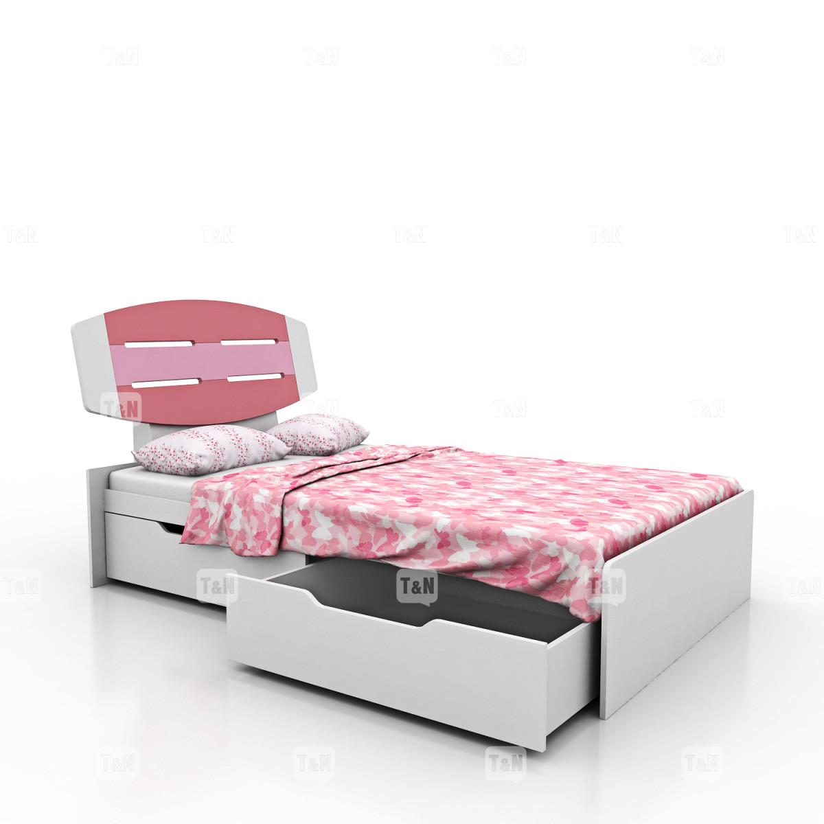 Кровать с выдвижными ящиками, (90 см.) (Фабрика TOMY NIKI )