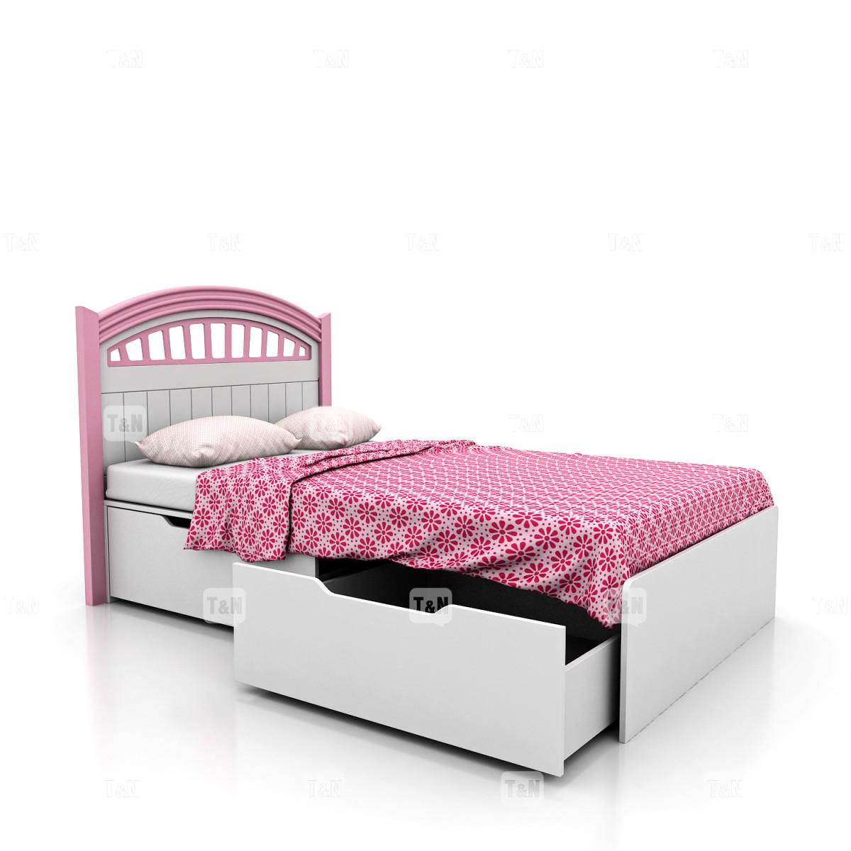 Кровать с выдвижными ящиками, (120 см.) (Фабрика TOMY NIKI )
