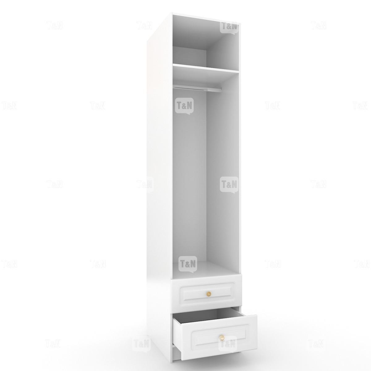 Шкаф 1-дверный с 2-мя ящикамии 2-мя полками (Фабрика TOMY NIKI )